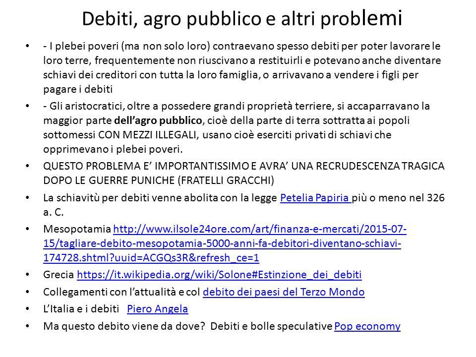 Schiavitù https://it.wikipedia.org/wiki/Schiavit%C3%B9 _nell%27antica_Roma https://it.wikipedia.org/wiki/Schiavit%C3%B9 _nell%27antica_Roma