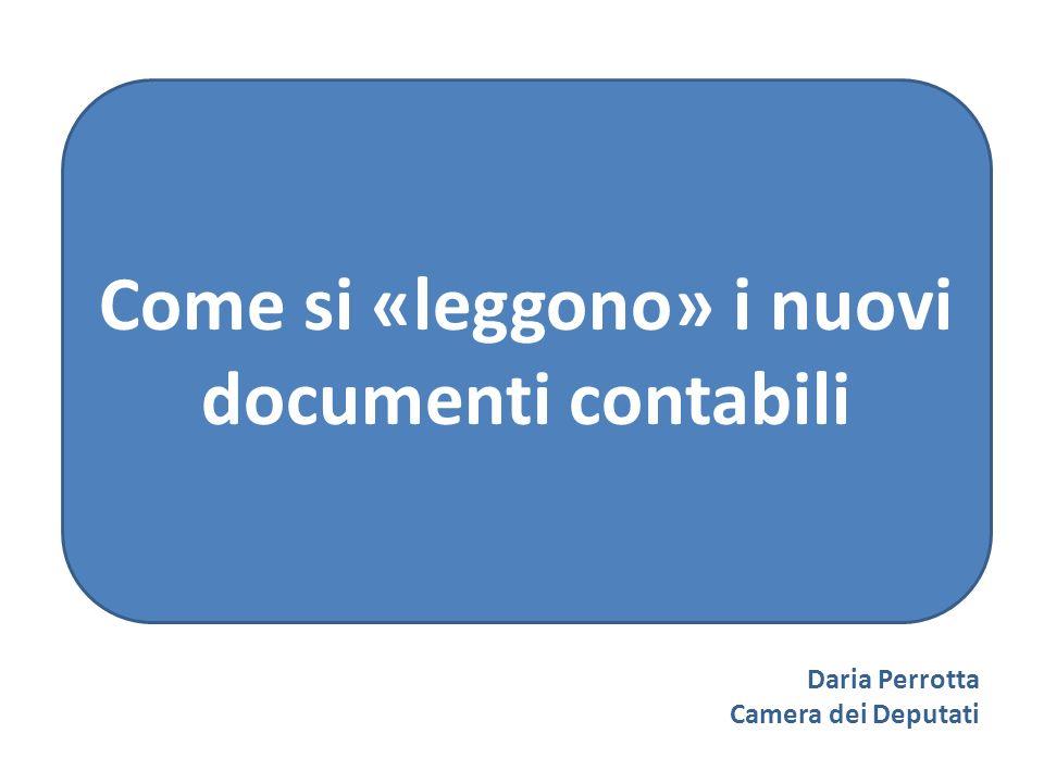 Daria Perrotta Camera dei Deputati Come si «leggono» i nuovi documenti contabili