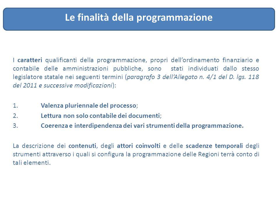 I caratteri qualificanti della programmazione, propri dell'ordinamento finanziario e contabile delle amministrazioni pubbliche, sono stati individuati
