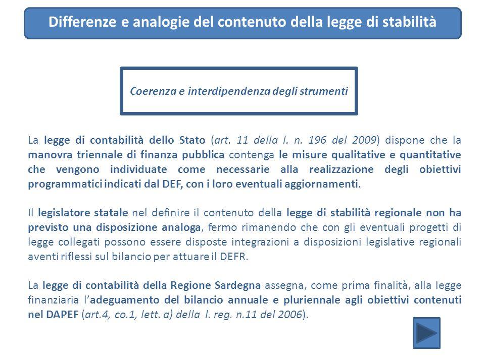 La legge di contabilità dello Stato (art. 11 della l. n. 196 del 2009) dispone che la manovra triennale di finanza pubblica contenga le misure qualita
