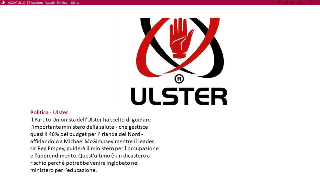 Politica - Ulster Il Partito Unionista dell'Ulster ha scelto di guidare l'importante ministero della salute - che gestisce quasi il 46% del budget per