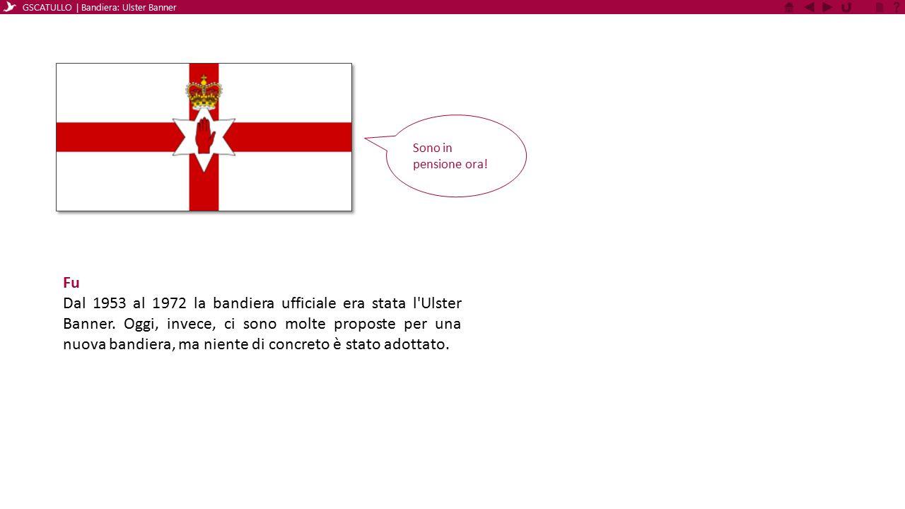Fu Dal 1953 al 1972 la bandiera ufficiale era stata l'Ulster Banner. Oggi, invece, ci sono molte proposte per una nuova bandiera, ma niente di concret