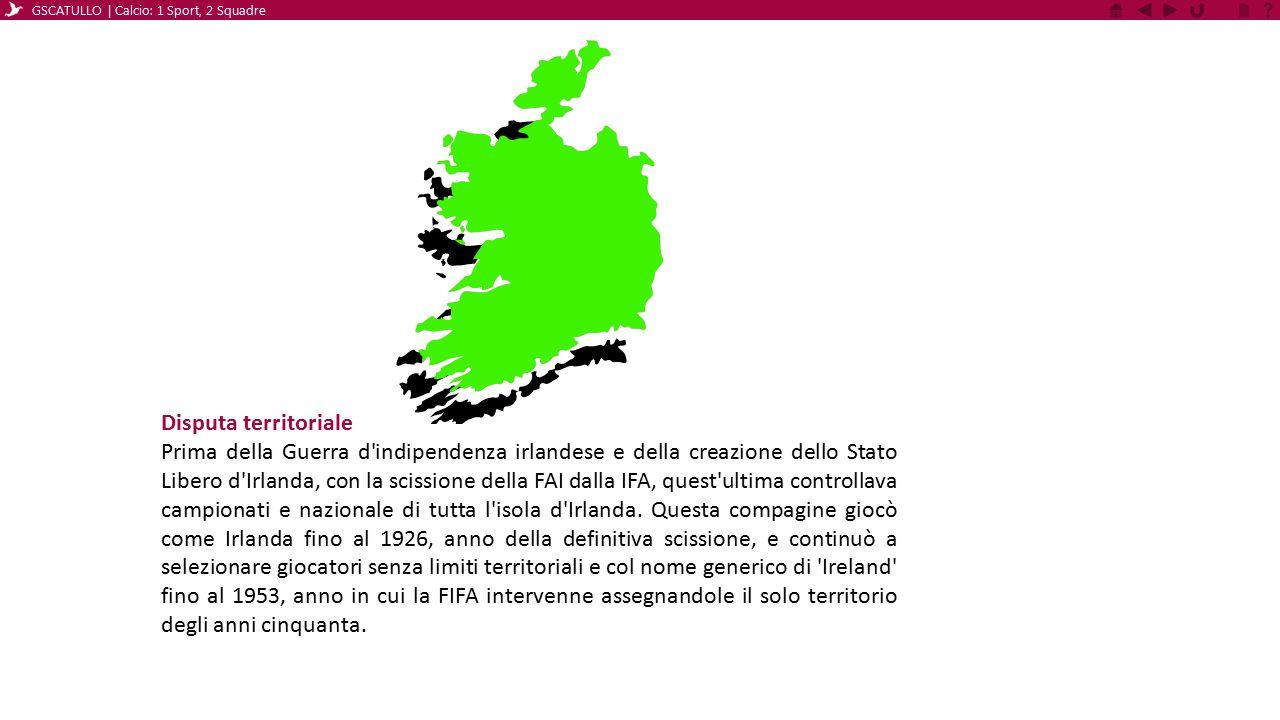 Disputa territoriale Prima della Guerra d'indipendenza irlandese e della creazione dello Stato Libero d'Irlanda, con la scissione della FAI dalla IFA,