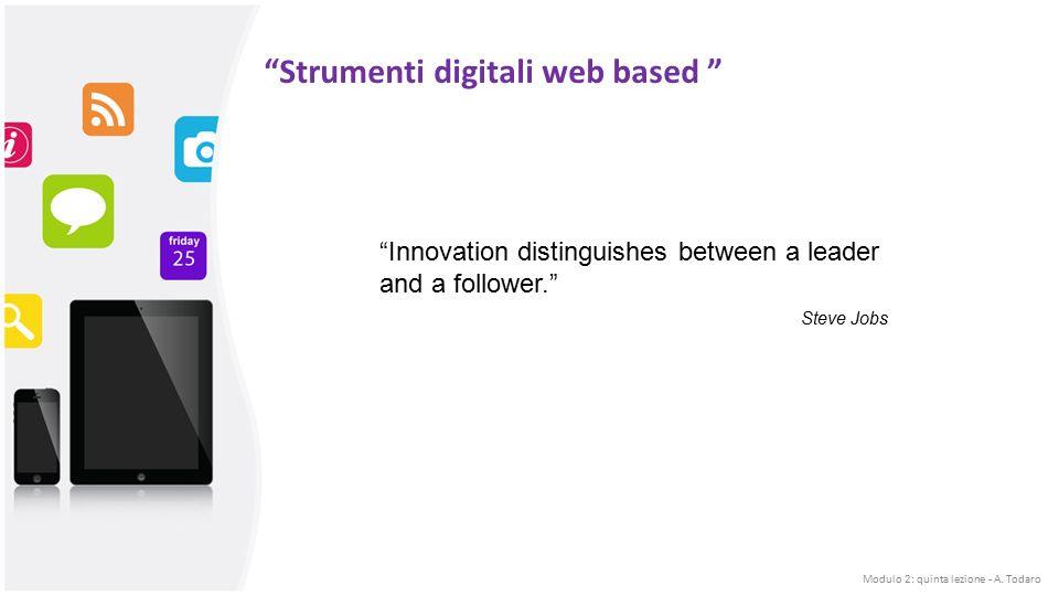 Modulo 2: quinta lezione - A. Todaro DigitaleAnalogico INSEGNAMENTO