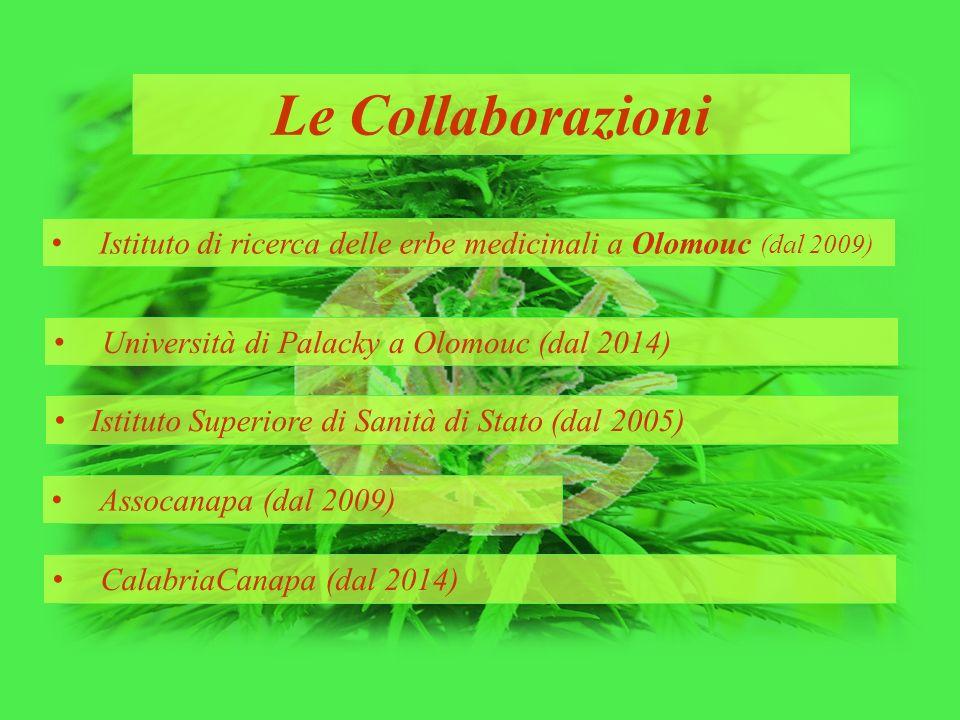 Le Collaborazioni Istituto di ricerca delle erbe medicinali a Olomouc (dal 2009) Università di Palacky a Olomouc (dal 2014) Istituto Superiore di Sani