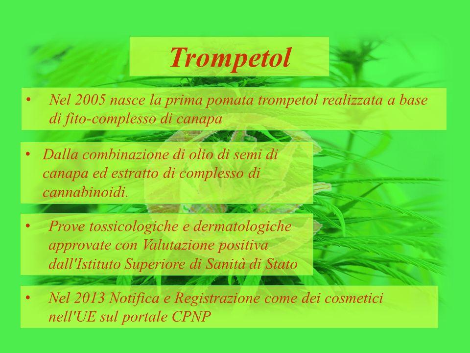 Trompetol Nel 2005 nasce la prima pomata trompetol realizzata a base di fito-complesso di canapa Dalla combinazione di olio di semi di canapa ed estra