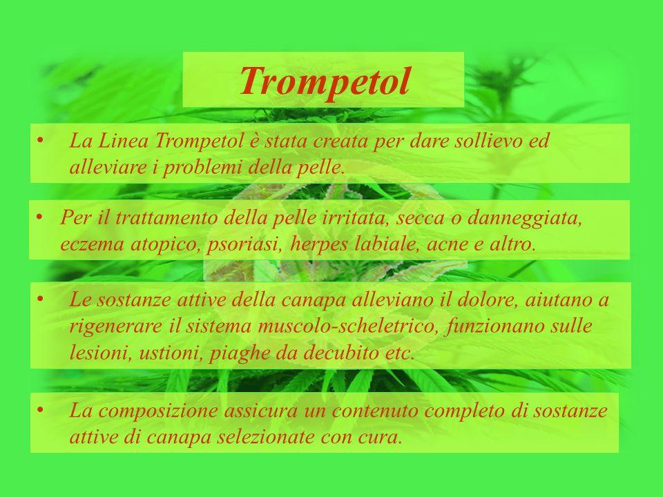 Trompetol La Linea Trompetol è stata creata per dare sollievo ed alleviare i problemi della pelle. Per il trattamento della pelle irritata, secca o da