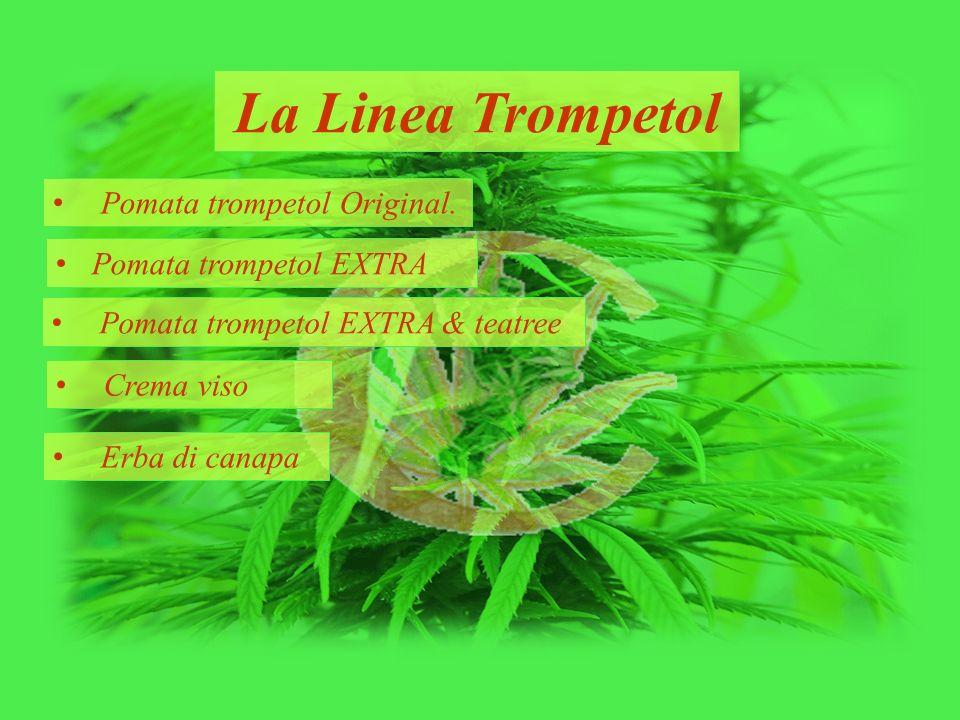 La Linea Trompetol Pomata trompetol Original. Pomata trompetol EXTRA Pomata trompetol EXTRA & teatree Crema viso Erba di canapa