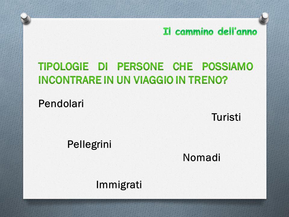 Pendolari Turisti Pellegrini Nomadi Immigrati