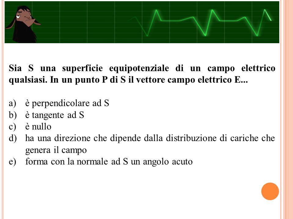 Sia S una superficie equipotenziale di un campo elettrico qualsiasi.