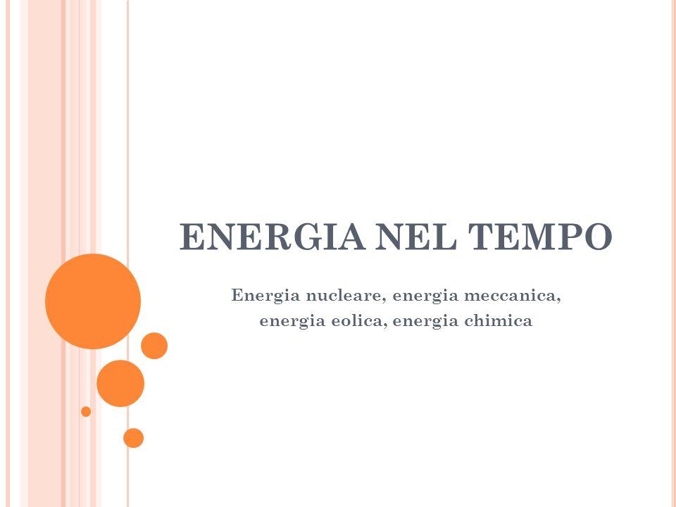 ENERGIA NEL TEMPO Energia nucleare, energia meccanica, energia eolica, energia chimica