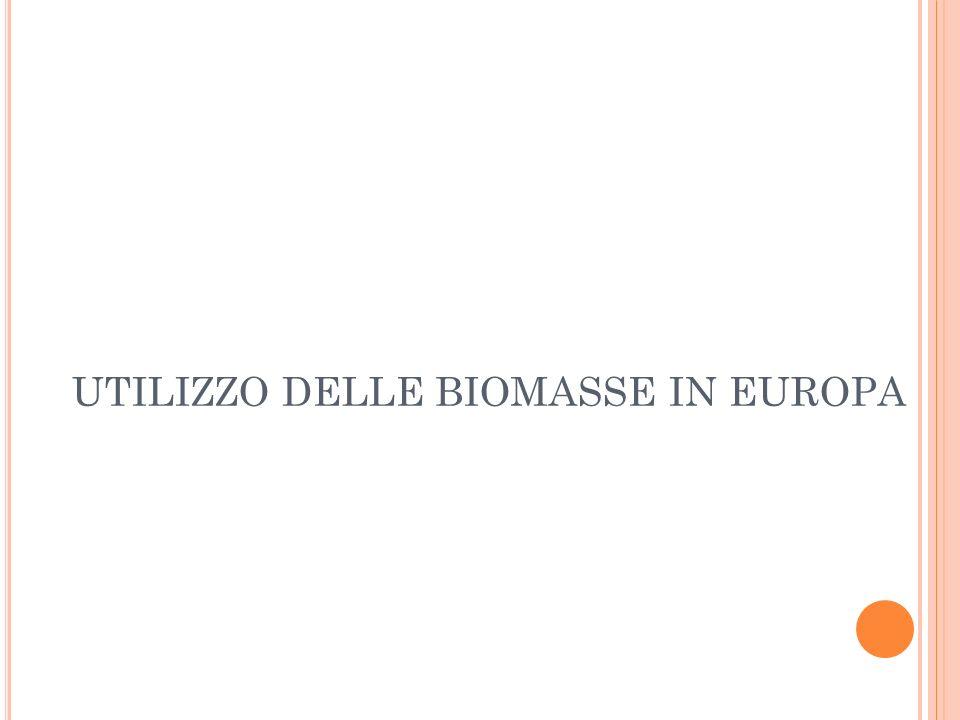 UTILIZZO DELLE BIOMASSE IN EUROPA