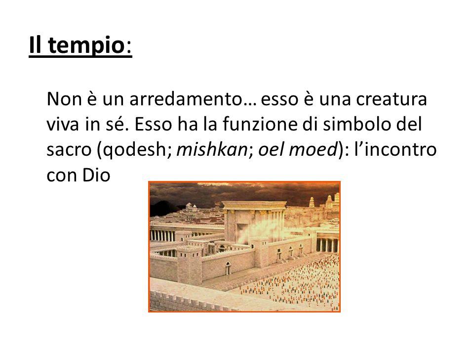 Il tempio: Non è un arredamento… esso è una creatura viva in sé.