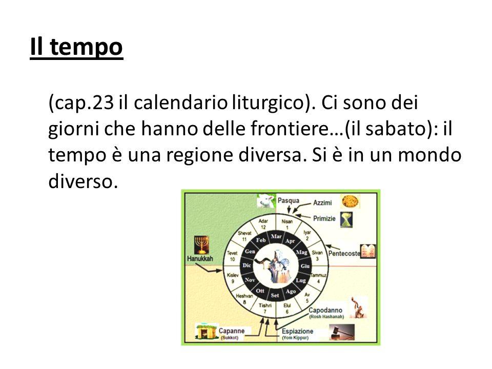 Il tempo (cap.23 il calendario liturgico).