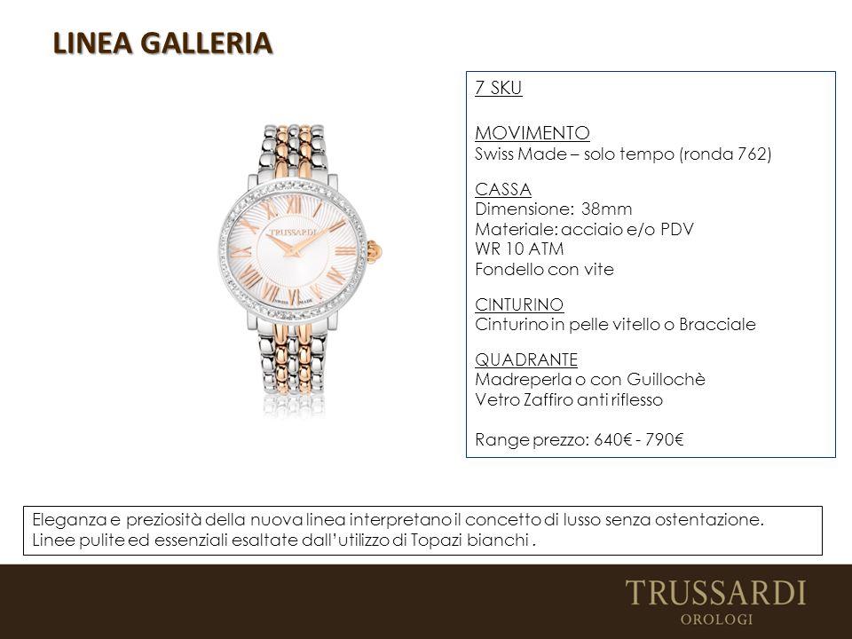 LINEA GALLERIA Eleganza e preziosità della nuova linea interpretano il concetto di lusso senza ostentazione.