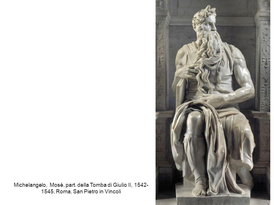 Michelangelo, Mosè, part. della Tomba di Giulio II, 1542- 1545, Roma, San Pietro in Vincoli