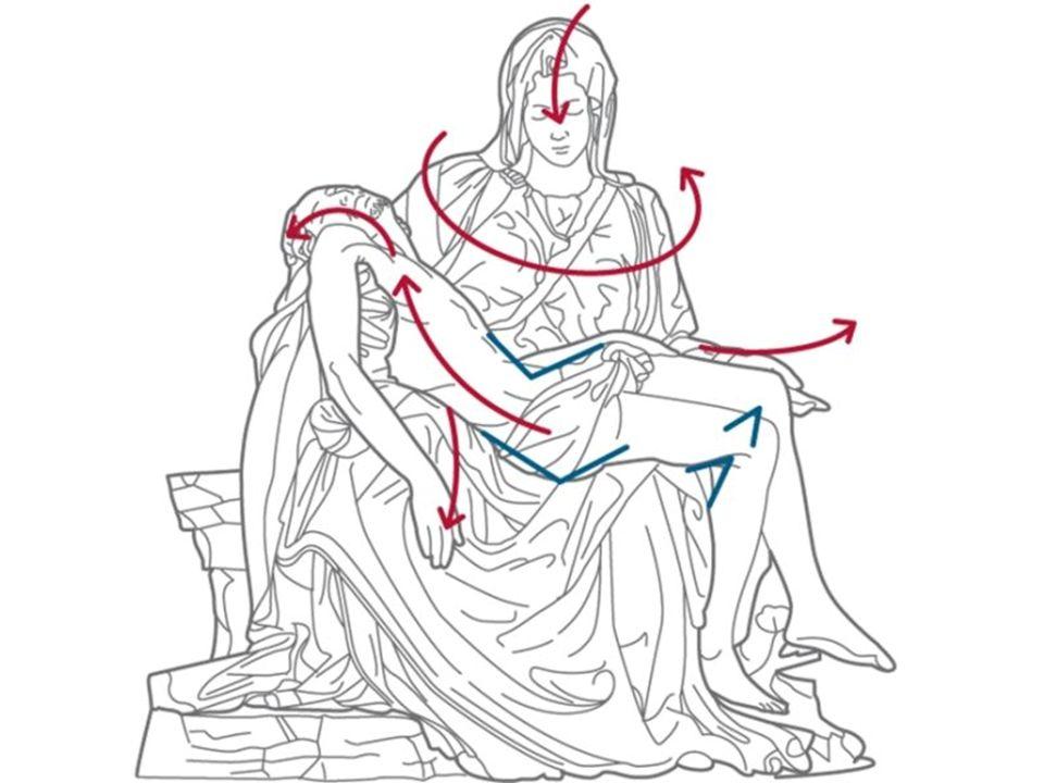 Michelangelo, David, 1501-1504, Firenze, Galleria dell'Accademia Il blocco di marmo informe contiene già, potenzialmente quel che poi lo scultore sarà capace di trarne.