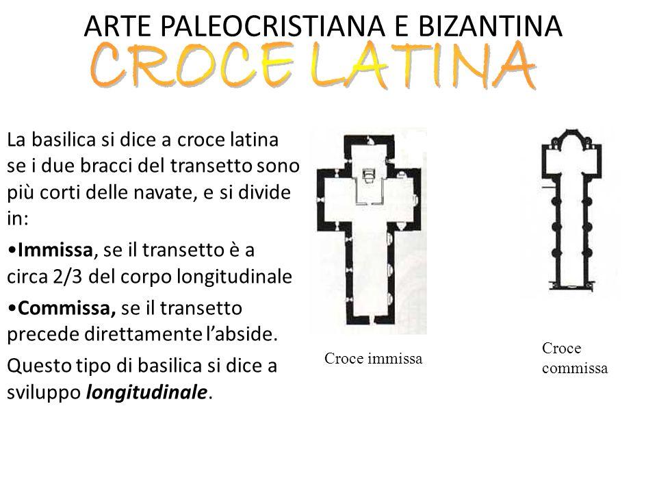 ARTE PALEOCRISTIANA E BIZANTINA NARTECE: porzione di porticato corrispondente alla facciata della basilica, destinato ai penitenti che non potevano entrare nell'area sacra.