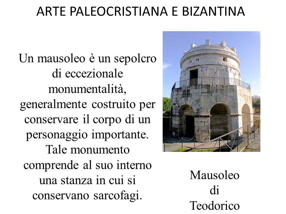 ARTE PALEOCRISTIANA E BIZANTINA Il battistero in genere si presenta a pianta poligonale o circolare con una copertura a cupola e al suo interno contiene il fonte battesimale.