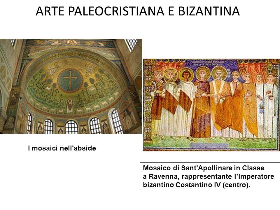 ARTE PALEOCRISTIANA E BIZANTINA La basilica, situata a circa 5 km dal centro di Ravenna, è a tre navate, con corpo mediano rialzato e abside poligonale affiancata da due cappelle absidate.
