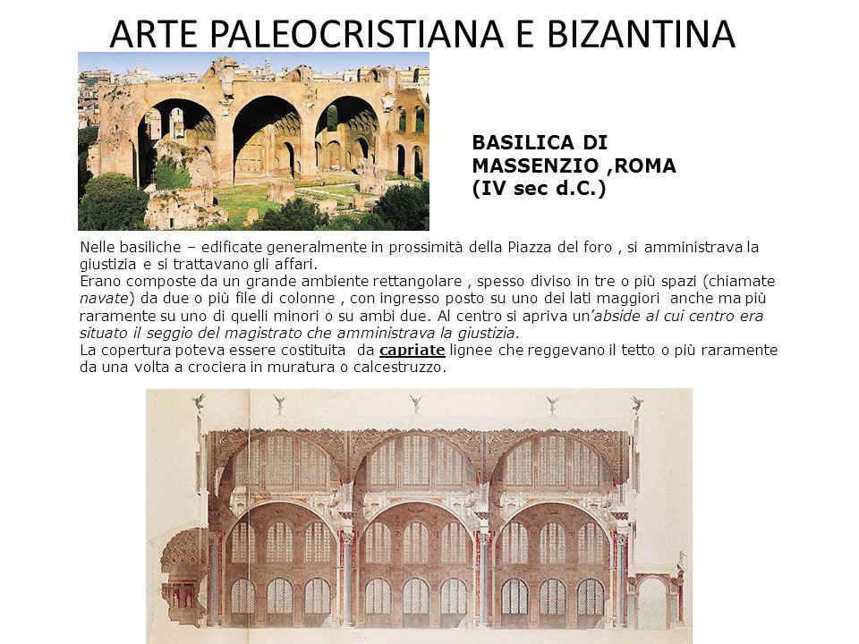 ARTE PALEOCRISTIANA E BIZANTINA Spazio architettonico Longitudinale (basiliche) Centrale (battisteri, mausolei, martyria) OccidenteOriente Architettura Paleocristiana Architettura Bizantina