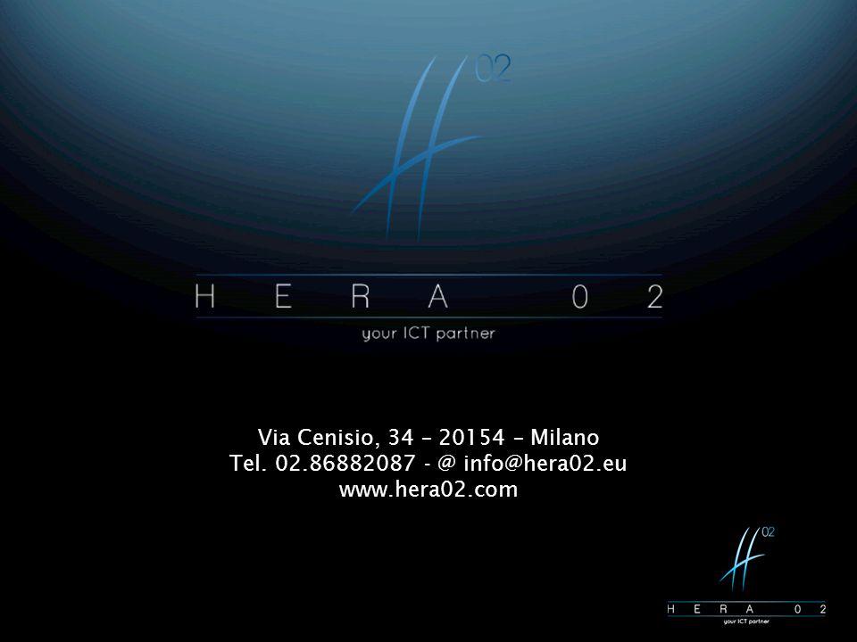 Via Cenisio, 34 – 20154 – Milano Tel. 02.86882087 - @ info@hera02.eu www.hera02.com