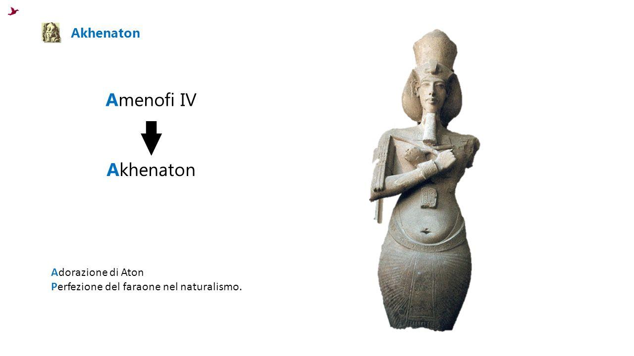 Akhenaton Amenofi IV Akhenaton Adorazione di Aton Perfezione del faraone nel naturalismo.