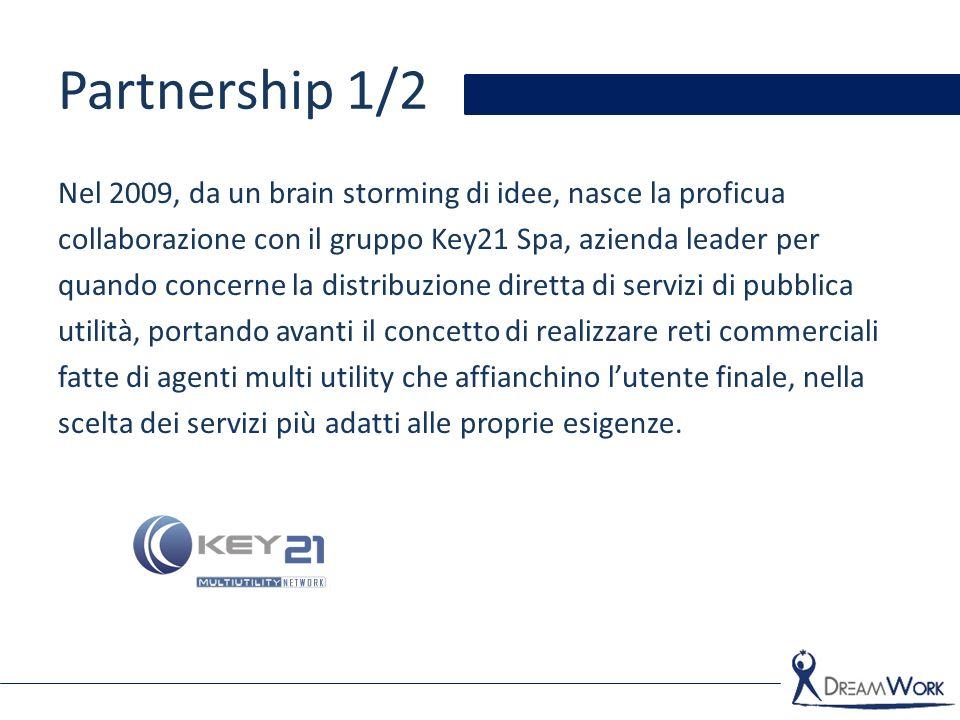 Partnership 1/2 Nel 2009, da un brain storming di idee, nasce la proficua collaborazione con il gruppo Key21 Spa, azienda leader per quando concerne l