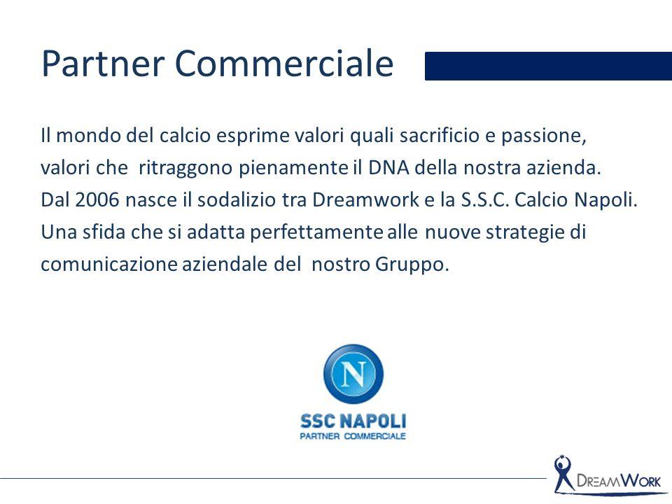 Partner Commerciale Il mondo del calcio esprime valori quali sacrificio e passione, valori che ritraggono pienamente il DNA della nostra azienda. Dal
