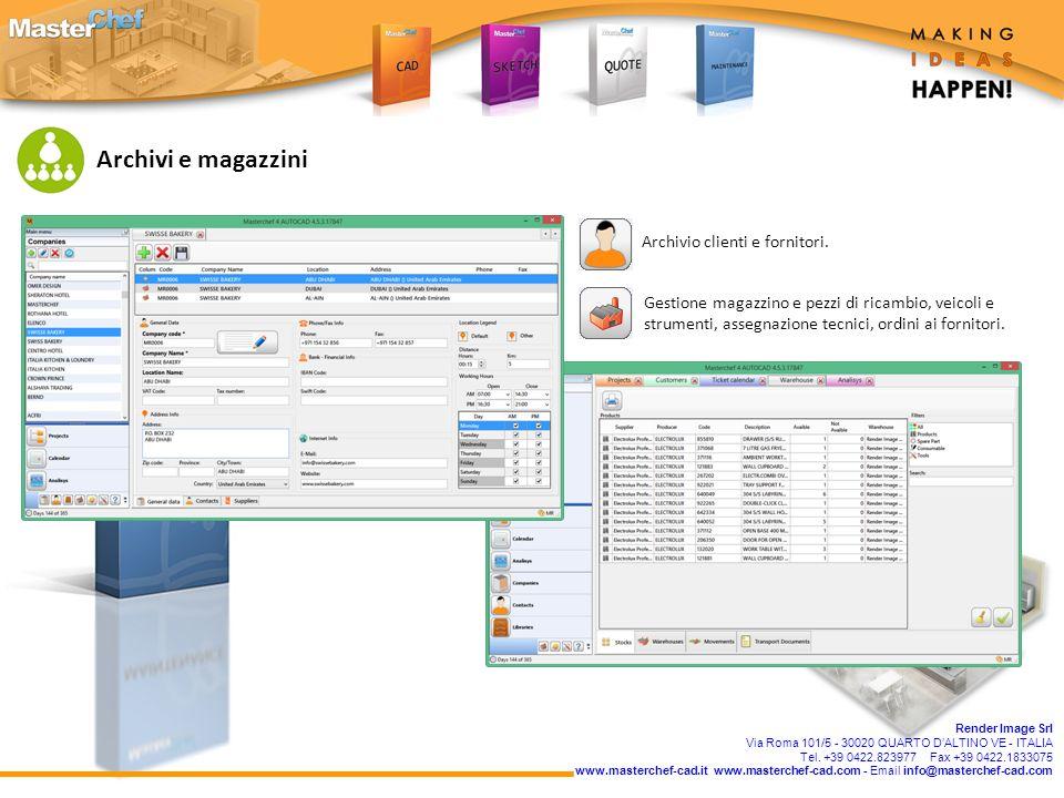 Render Image Srl Via Roma 101/5 - 30020 QUARTO D'ALTINO VE - ITALIA Tel.
