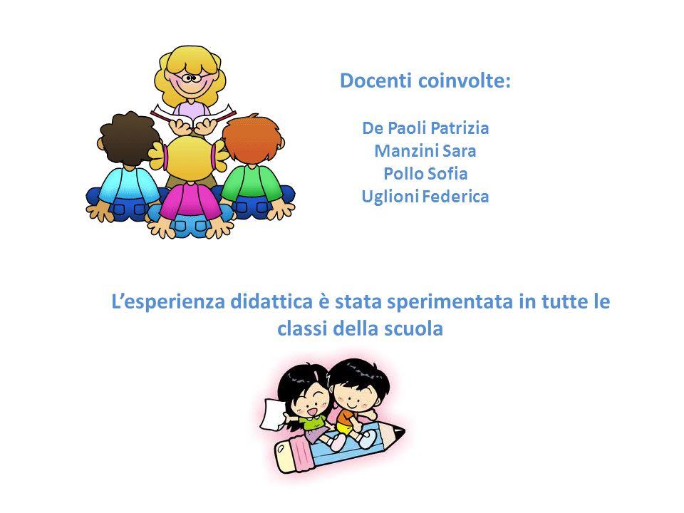 Docenti coinvolte: De Paoli Patrizia Manzini Sara Pollo Sofia Uglioni Federica L'esperienza didattica è stata sperimentata in tutte le classi della scuola