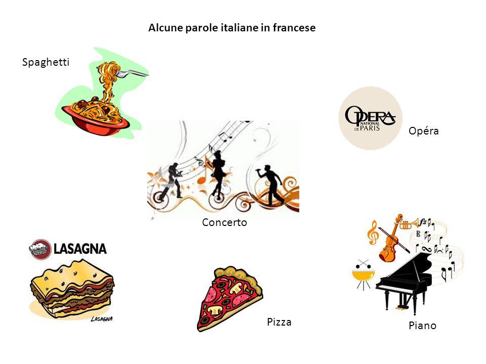 Spaghetti Alcune parole italiane in francese Concerto Piano Opéra Pizza