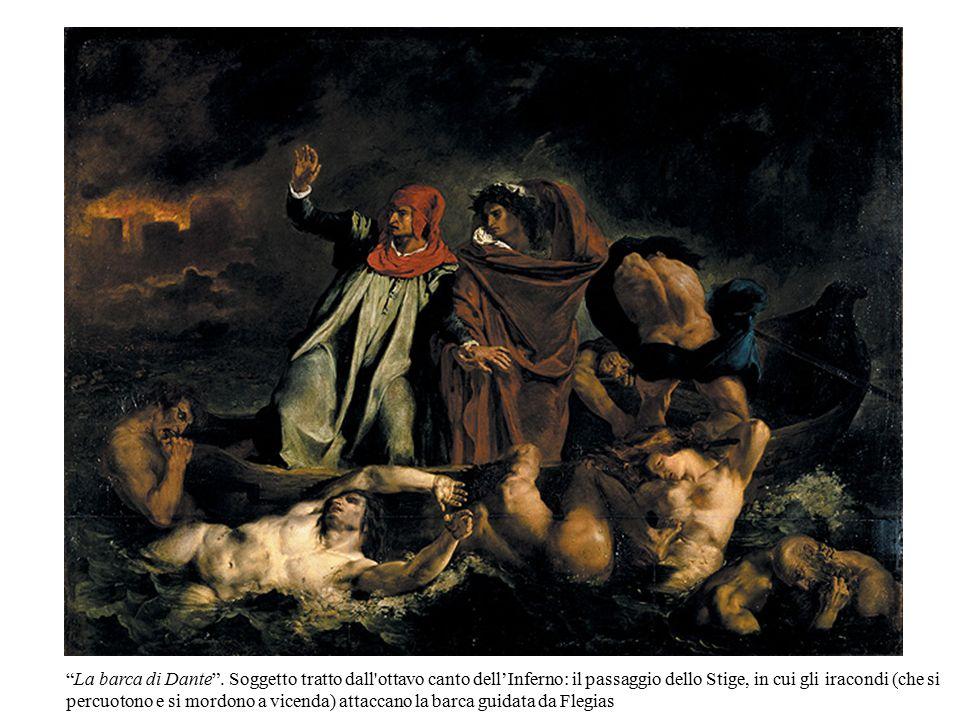 """""""La barca di Dante"""". Soggetto tratto dall'ottavo canto dell'Inferno: il passaggio dello Stige, in cui gli iracondi (che si percuotono e si mordono a v"""