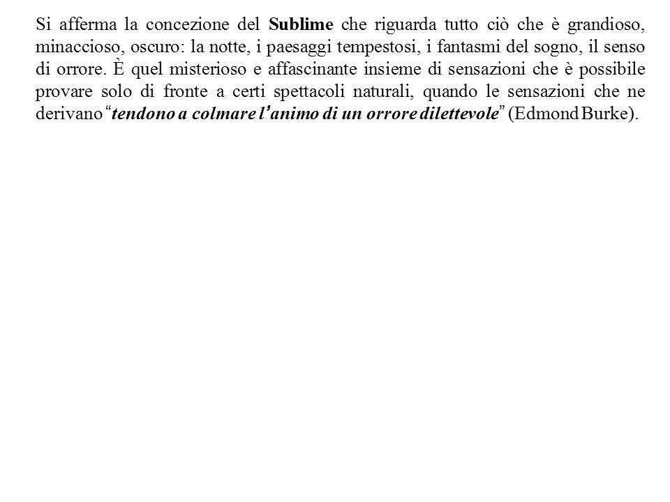 Il Sublime (dal latino sublimis, composto di sub- ' sotto ' e limus ' obliquo ' ; quindi propriamente ' che sale obliquamente ', ovvero di sub- sotto e limen- soglia , propriamente che giunge fin sotto la soglia più alta ) è una categoria estetica che risale all antichità classica.