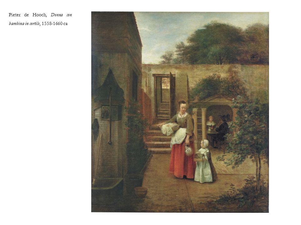 Pieter de Hooch, Donna con bambina in cortile, 1558-1660 ca