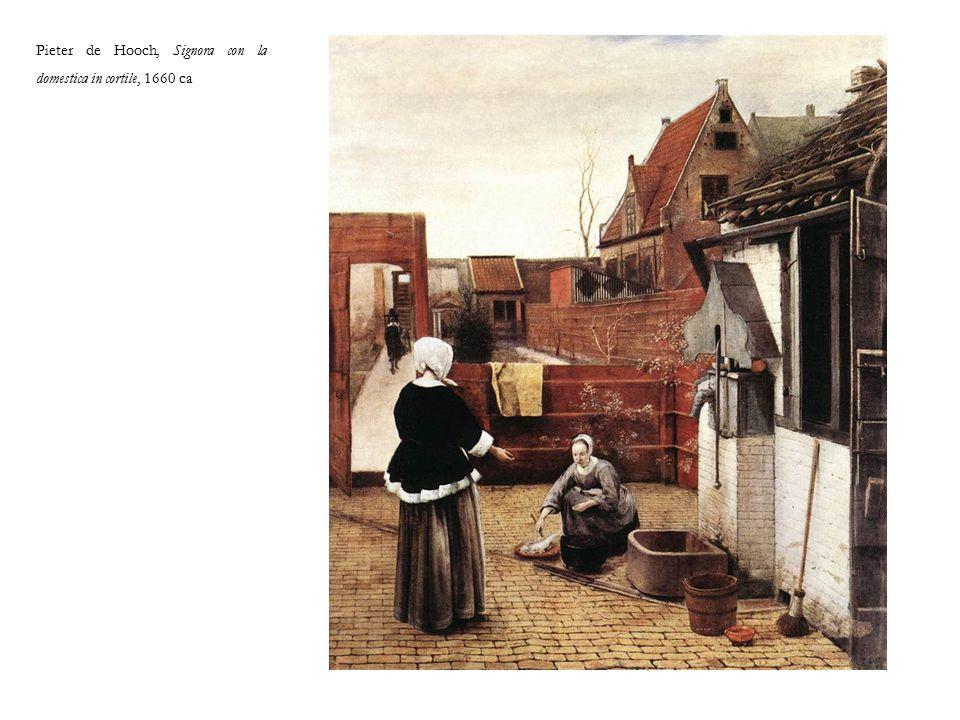 Pieter de Hooch, Signora con la domestica in cortile, 1660 ca