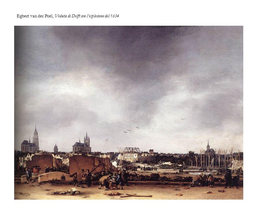 Egbert van der Poel, Veduta di Delft con l'esplosione del 1654