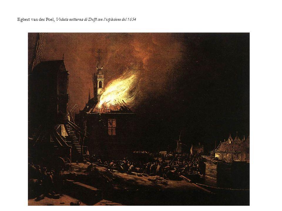 Egbert van der Poel, Veduta notturna di Delft con l'esplosione del 1654