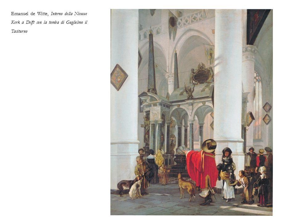 Emanuel de Witte, Interno della Nieuwe Kerk a Delft con la tomba di Guglielmo il Taciturno