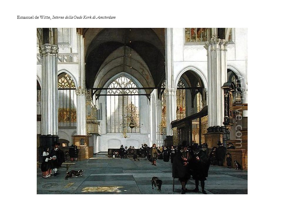 Emanuel de Witte, Interno della Oude Kerk di Amsterdam