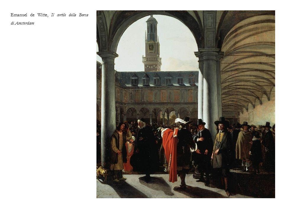 Emanuel de Witte, Il cortile della Borsa di Amsterdam