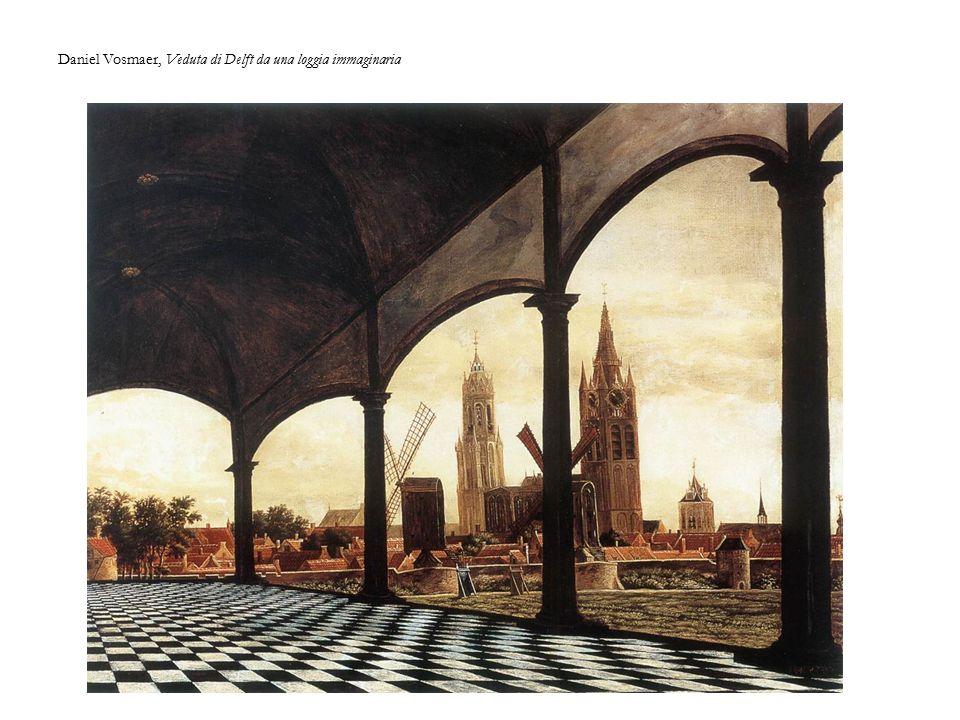 Daniel Vosmaer, Veduta di Delft da una loggia immaginaria