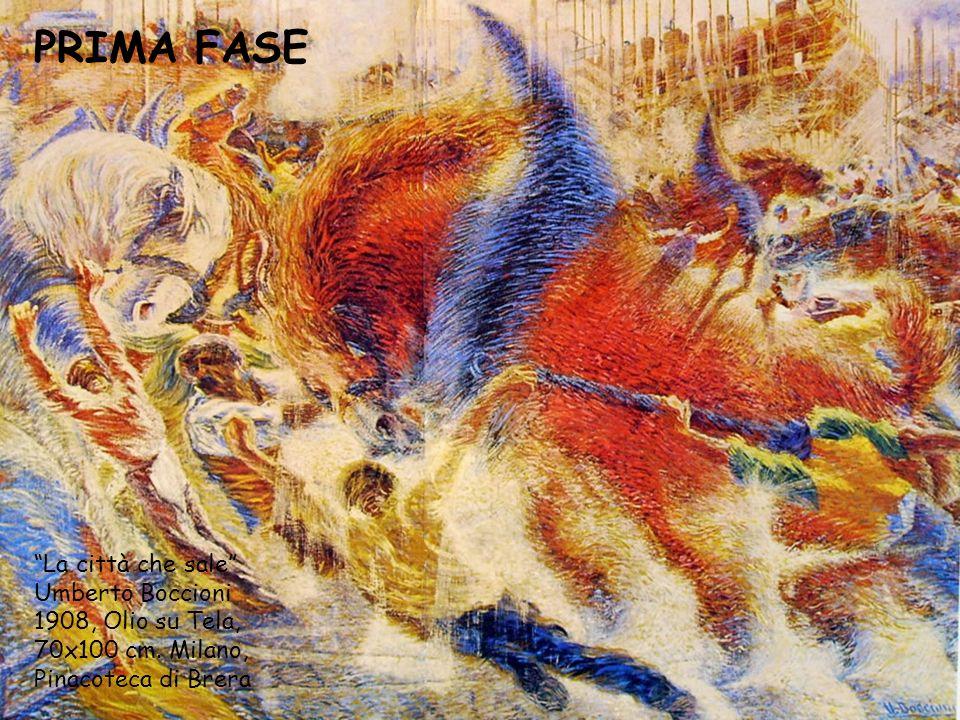 """""""La città che sale"""" Umberto Boccioni 1908, Olio su Tela, 70x100 cm. Milano, Pinacoteca di Brera PRIMA FASE"""