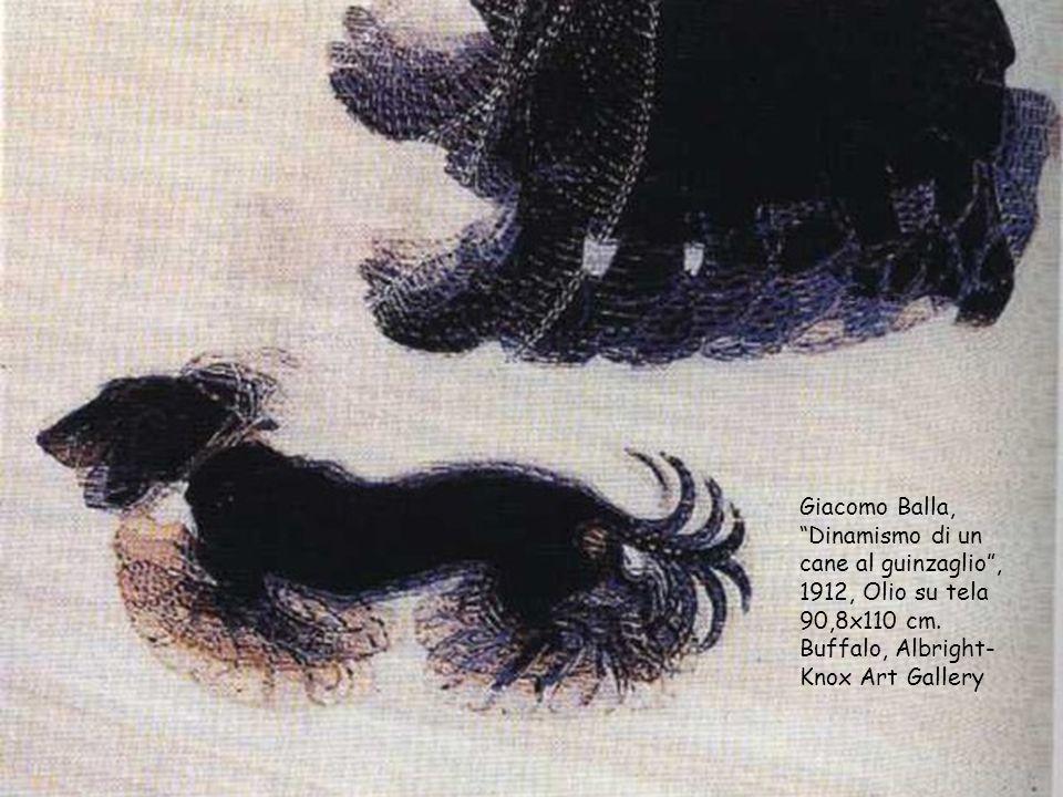 """Giacomo Balla, """"Dinamismo di un cane al guinzaglio"""", 1912, Olio su tela 90,8x110 cm. Buffalo, Albright- Knox Art Gallery"""