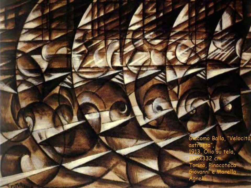 """Giacomo Balla, """"Velocità astratta"""", 1913, Olio su tela, 200x332 cm. Torino, Pinacoteca Giovanni e Marella Agnelli"""