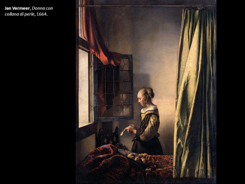 Jan Vermeer, Donna con collana di perle, 1664.