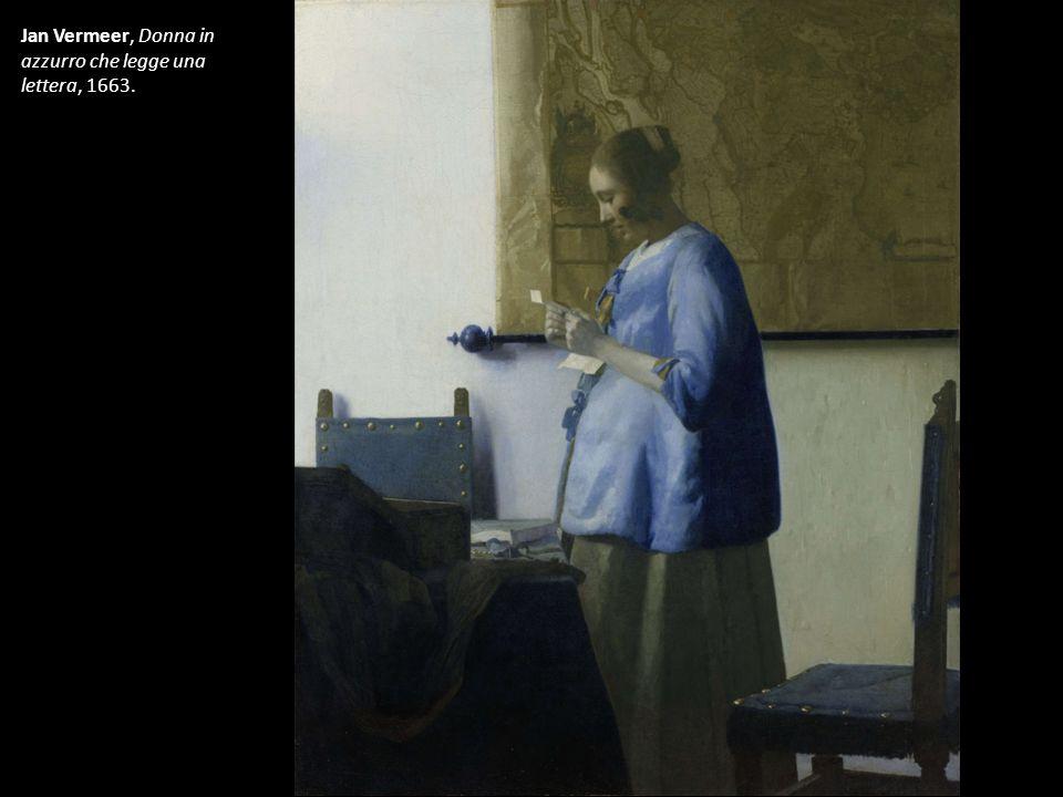 Jan Vermeer, Donna in azzurro che legge una lettera, 1663.