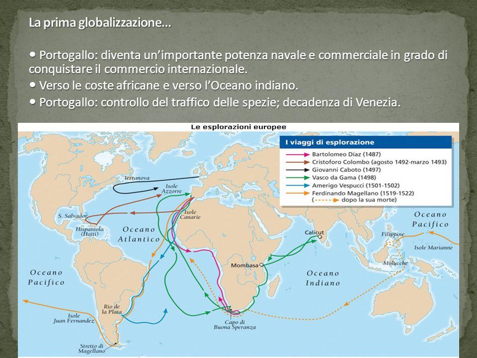 1498: Vasco de Gama raggiunge l'India e carica la nave di pepe, dove costa circa il 4% del prezzo europeo.