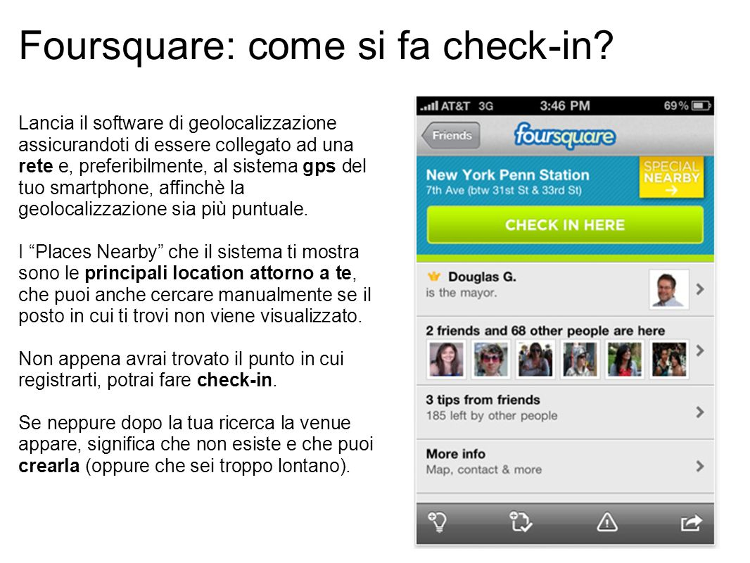 4 Foursquare: come si fa check-in.