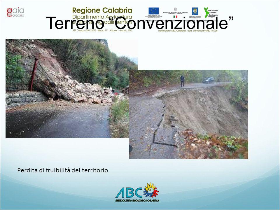 """Terreno """"Convenzionale"""" Perdita di fruibilità del territorio"""